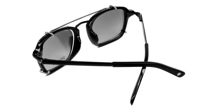 HEX Eyewear|演員 - Matt D.│光學配前掛墨鏡│太陽眼鏡│義大利設計 - 消光黑