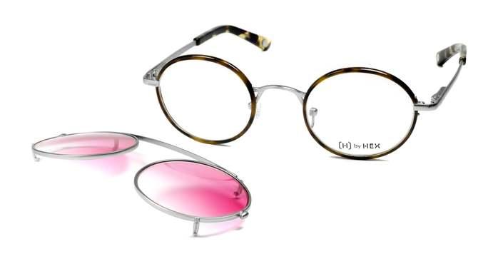 HEX Eyewear 記者 - Joseph P.│光學配前掛墨鏡│太陽眼鏡│義大利設計 - 褐色啡花