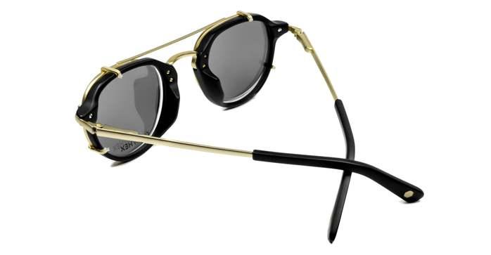 HEX Eyewear 商人 - John M.│光學配前掛墨鏡│太陽眼鏡│義大利設計 - 黑色