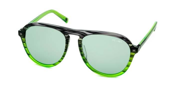 HEX Eyewear|探險家 - Leif E.│墨鏡│太陽眼鏡│義大利設計 - 透綠色橫紋