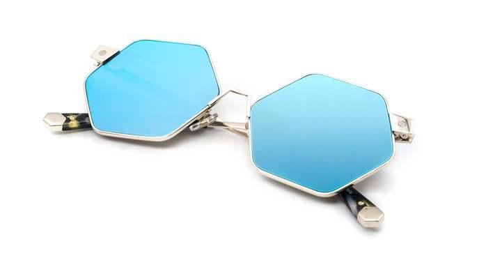 HEX Eyewear|和平主義者 - Ono│墨鏡│太陽眼鏡│義大利製 - 藍水銀