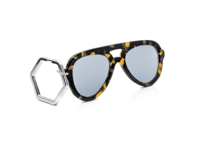 HEX Eyewear|墨鏡鑰匙圈|太陽眼鏡鑰匙圈|HEXETATE 板料配件 - 褐色啡花