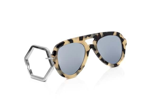 HEX Eyewear|墨鏡鑰匙圈|太陽眼鏡鑰匙圈|HEXETATE 板料配件 - 米色啡花
