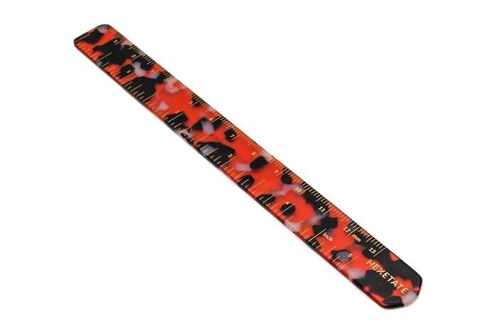 HEX Eyewear|尺|HEXETATE 眼鏡墨鏡板料配件 - 紅黑啡花