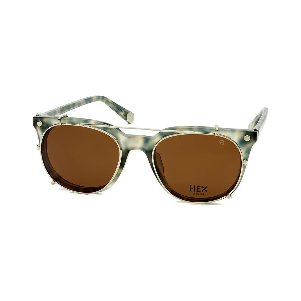 HEX Eyewear|運動家 - Ronaldo│光學配前掛墨鏡│太陽眼鏡│義大利製 - 綠啡花