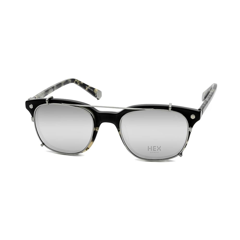 HEX Eyewear|騙子 - Abagnale│光學配前掛墨鏡│太陽眼鏡│義大利製 - 黑啡花