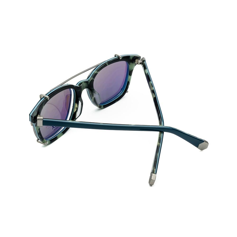 HEX Eyewear|騙子 - Abagnale│光學配前掛墨鏡│太陽眼鏡│義大利製 - 綠色炭燒