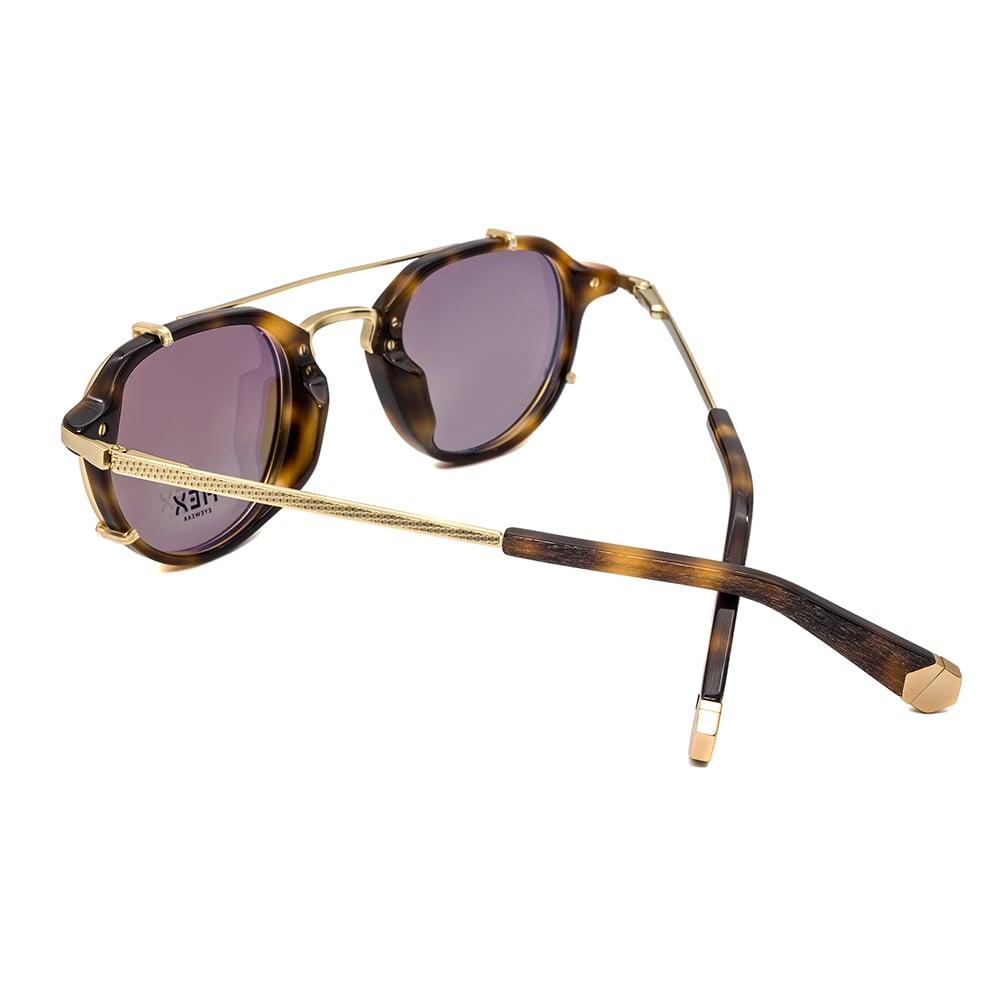 HEX Eyewear|商人 - Morgan│光學配前掛墨鏡│太陽眼鏡│義大利製 - 褐色啡花