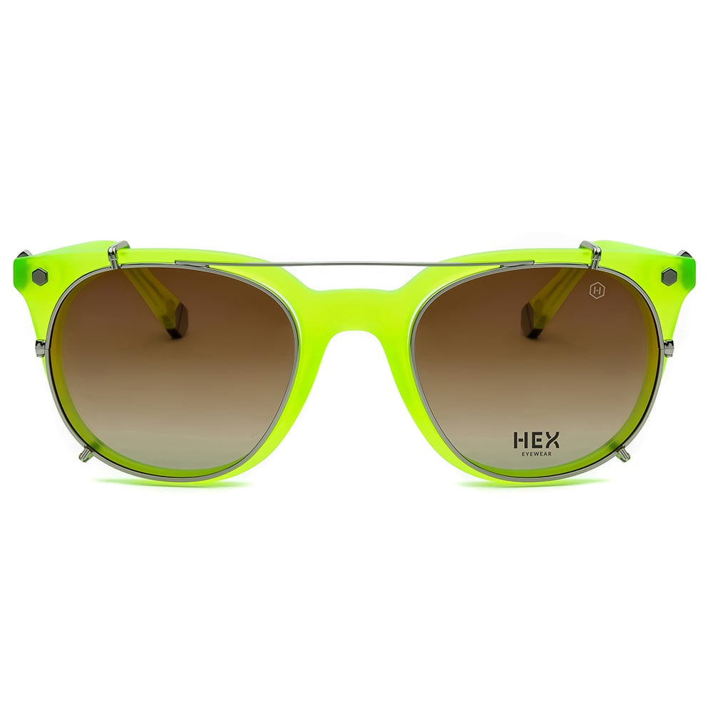 HEX Eyewear|運動家 - Ronaldo│光學配前掛墨鏡│太陽眼鏡│義大利製 - 檸檬黃