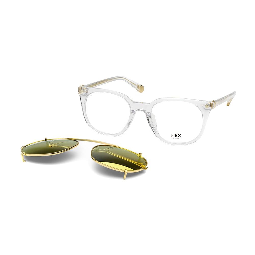 HEX Eyewear|運動家 - Ronaldo│光學配前掛墨鏡│太陽眼鏡│義大利製 - 透明