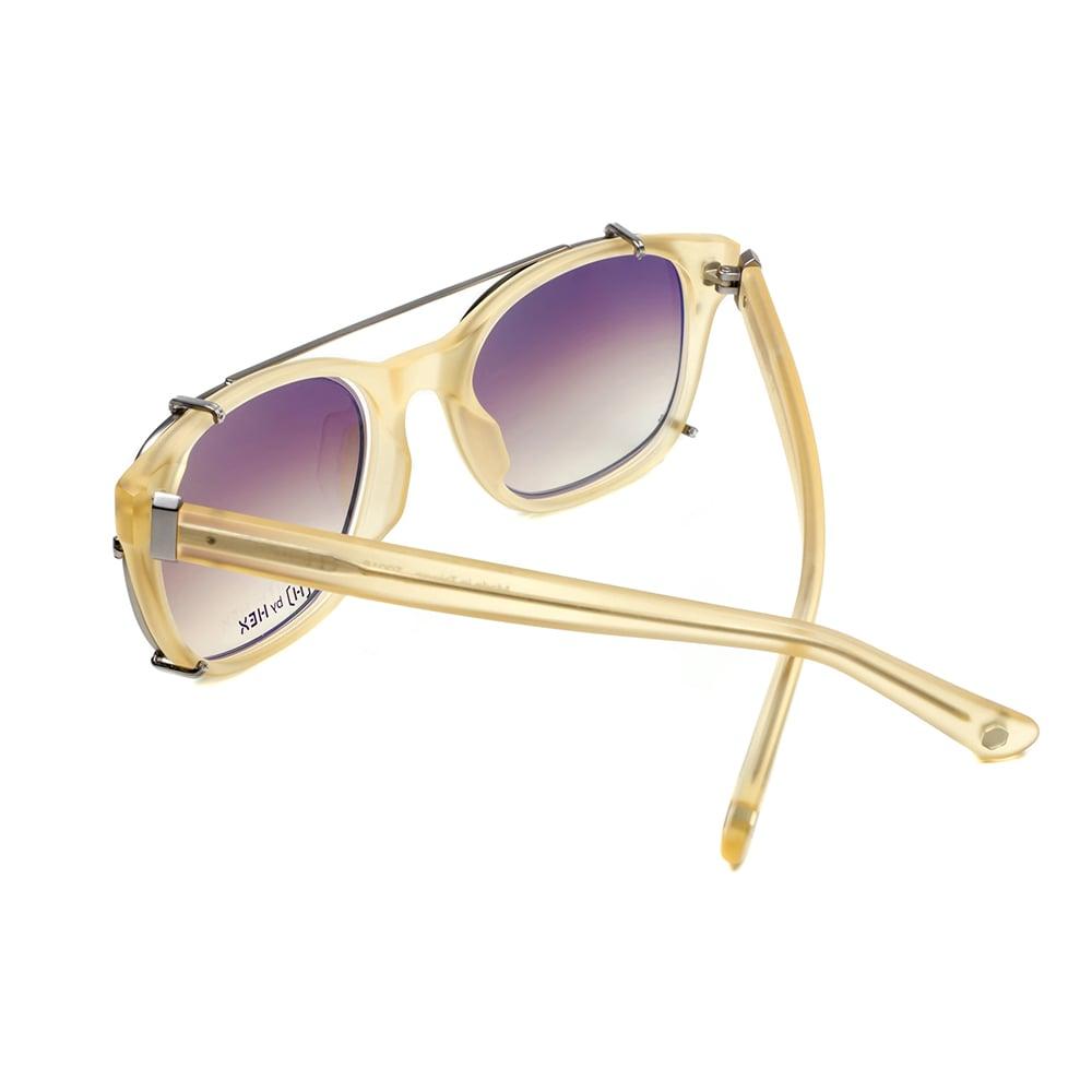 HEX Eyewear|騎士 - King A.│光學配前掛墨鏡│太陽眼鏡│義大利設計 - 米褐色