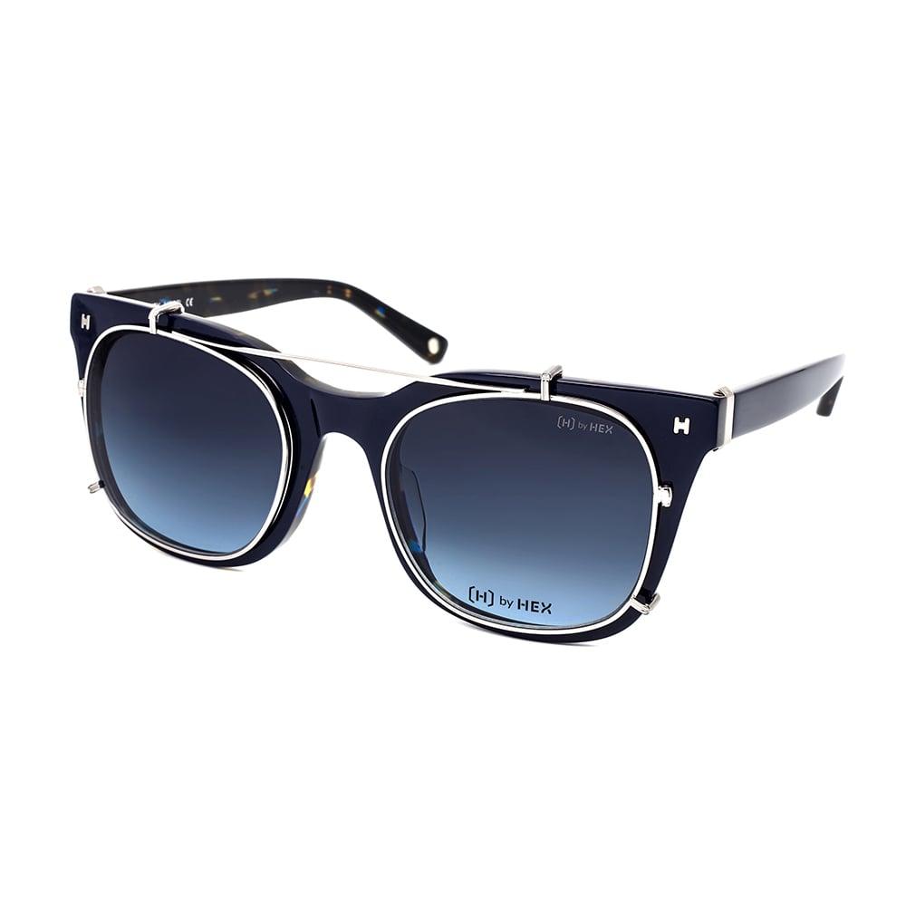 HEX Eyewear|模特兒 - Derek Z.│光學配前掛墨鏡│太陽眼鏡│義大利設計 - 深藍色