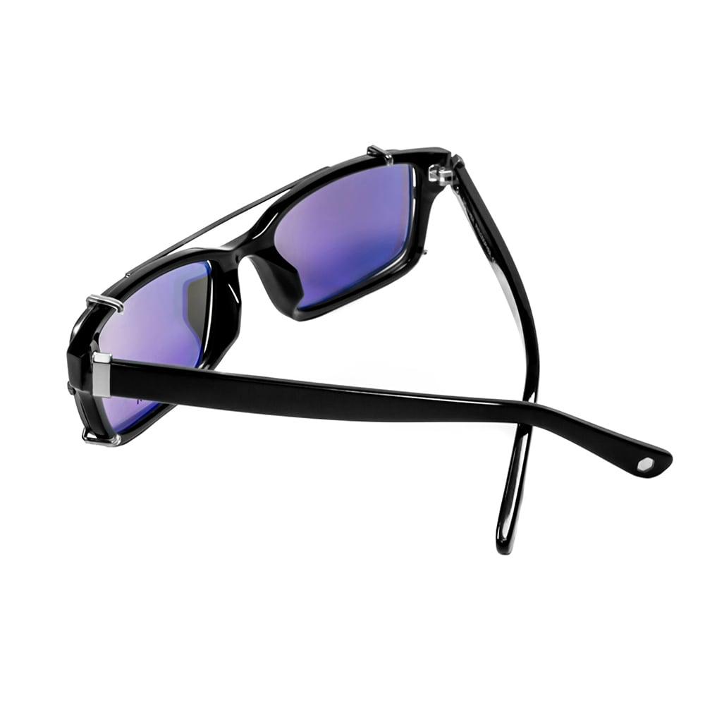 HEX Eyewear|哲學家 - Francis B.│光學配前掛墨鏡│太陽眼鏡│義大利設計 - 黑色