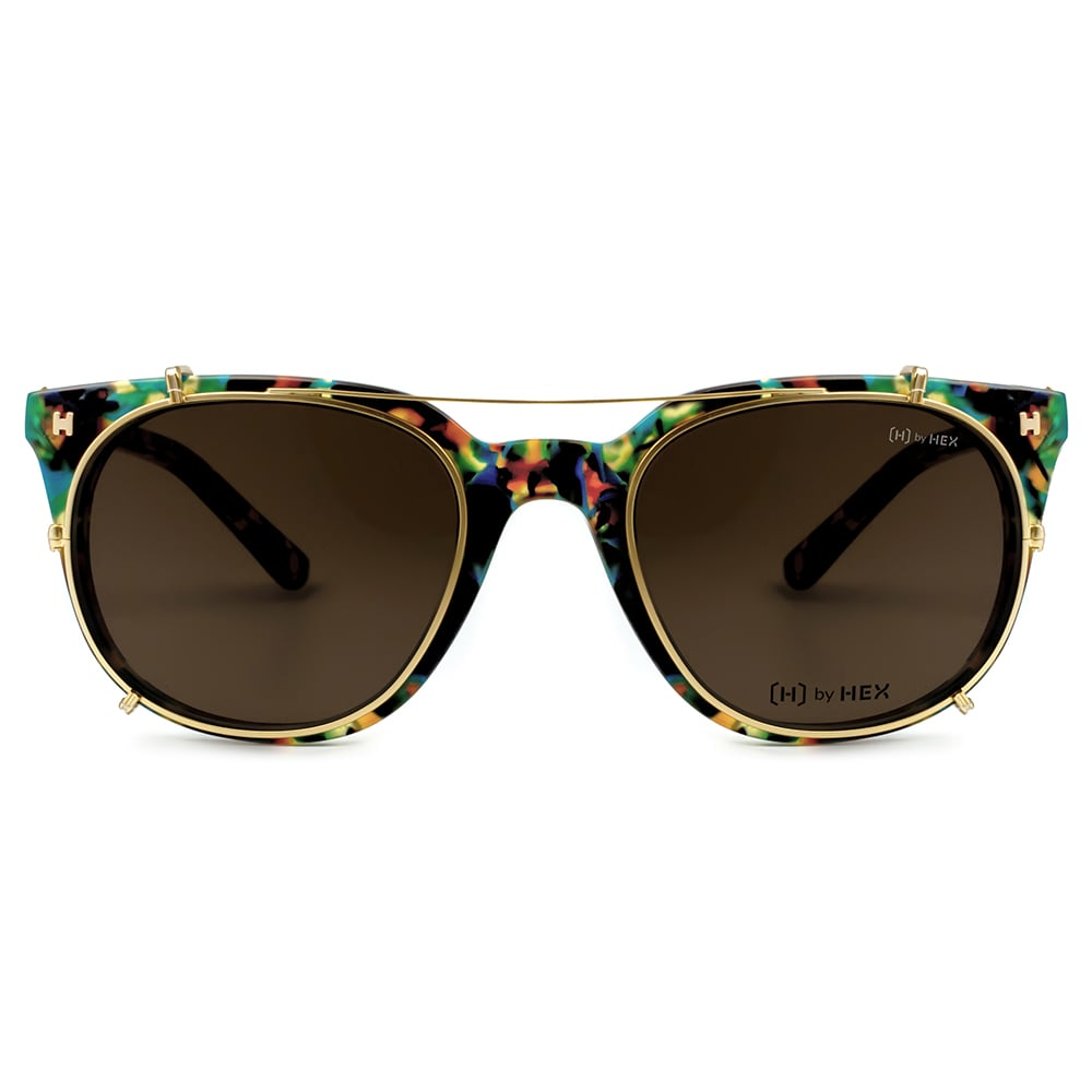HEX Eyewear|運動家 - Cristiano R.│光學配前掛墨鏡│太陽眼鏡│義大利設計 - 綠啡花