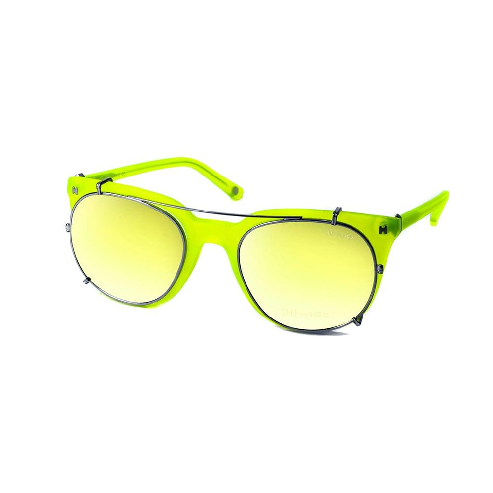 HEX Eyewear|運動家 - Cristiano R.│光學配前掛墨鏡│太陽眼鏡│義大利設計 - 檸檬黃