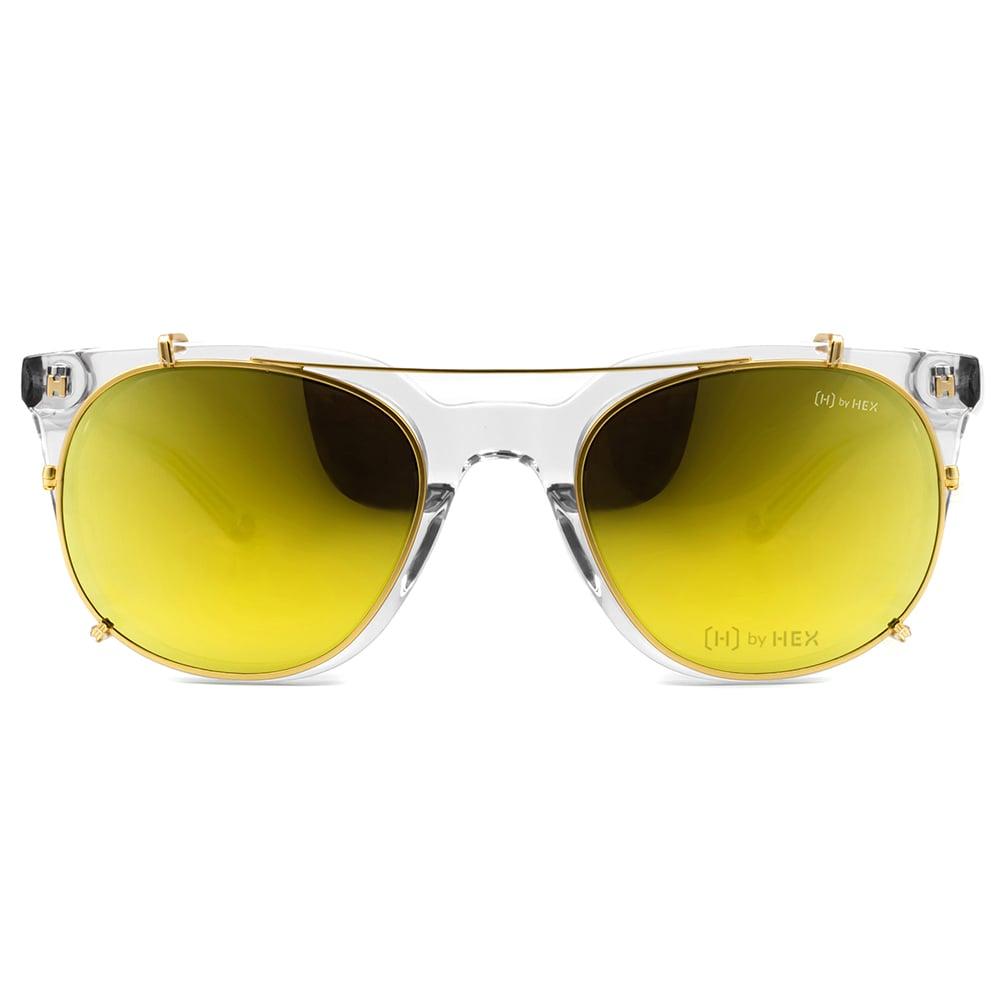 HEX Eyewear|運動家 - Cristiano R.│光學配前掛墨鏡│太陽眼鏡│義大利設計 - 透明
