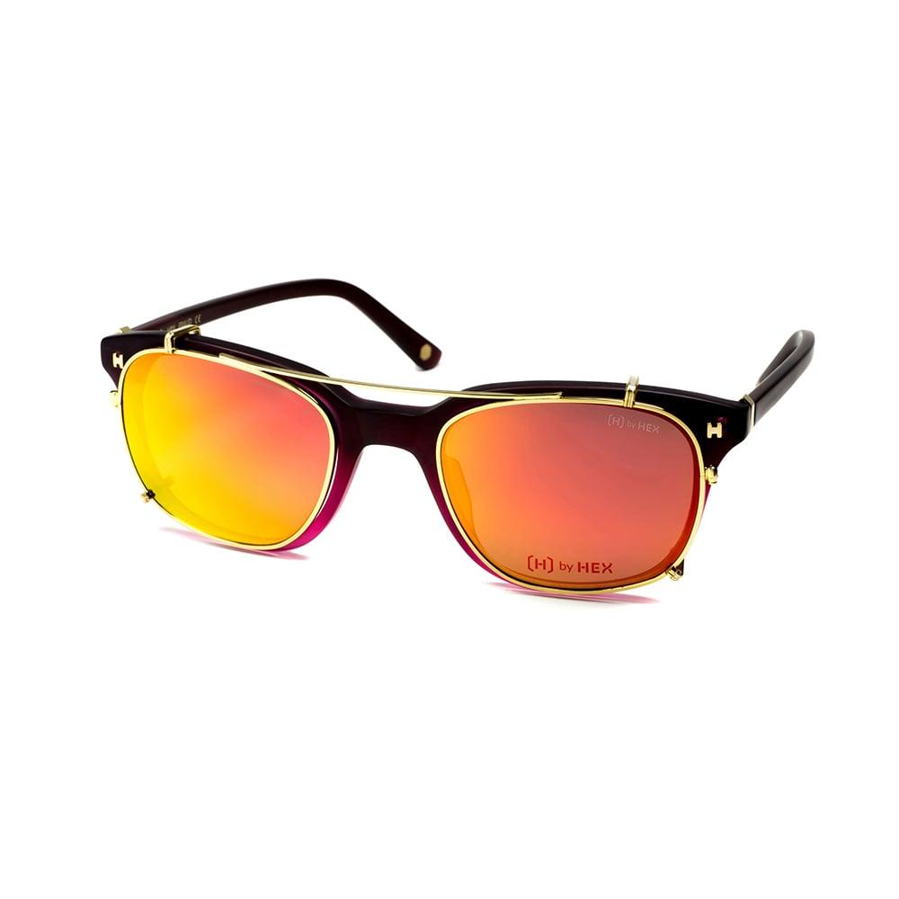 HEX Eyewear|騙子 - Frank A.│光學配前掛墨鏡│太陽眼鏡│義大利設計 - 暗紅色漸層