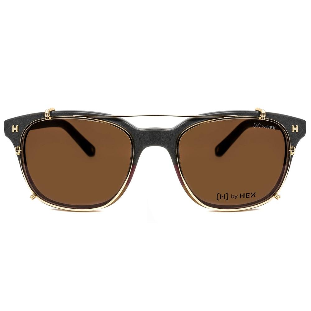 HEX Eyewear|騙子 - Frank A.│光學配前掛墨鏡│太陽眼鏡│義大利設計 - 黑紅褐三層色