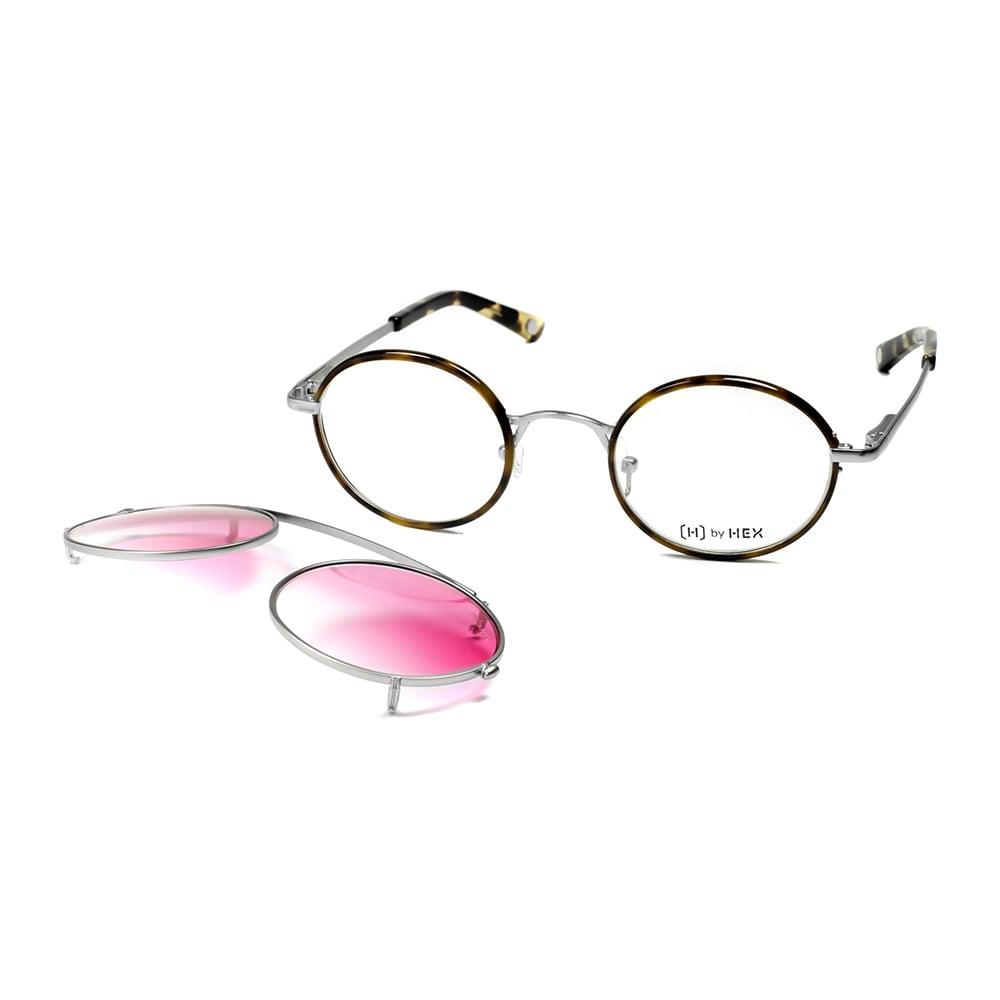 HEX Eyewear|記者 - Joseph P.│光學配前掛墨鏡│太陽眼鏡│義大利設計 - 褐色啡花