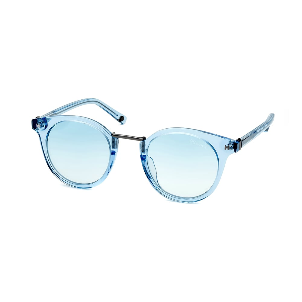 HEX Eyewear|政治家 - Henry S.│墨鏡│太陽眼鏡│義大利設計 - 透淡藍