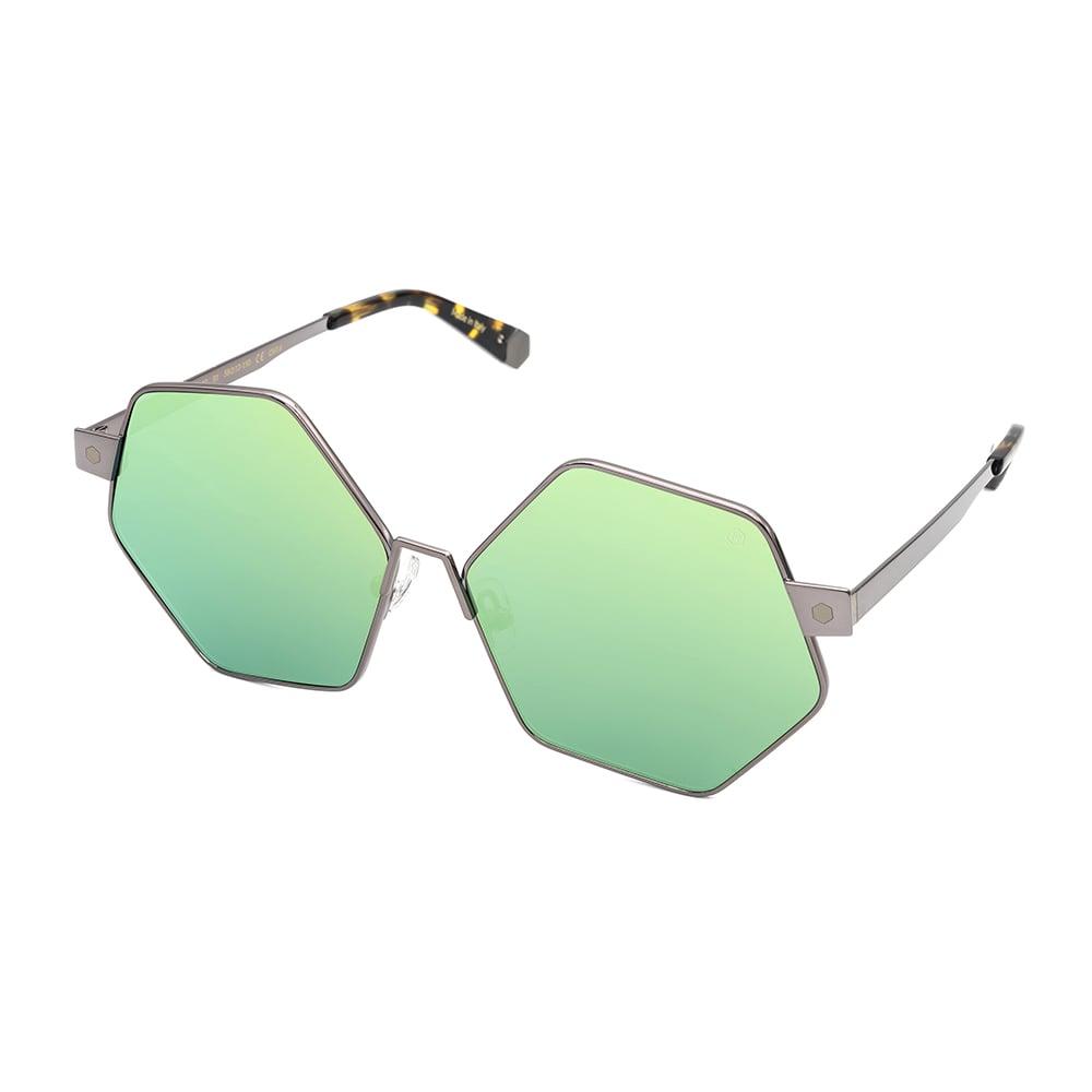 HEX Eyewear|和平主義者 - Ono│墨鏡│太陽眼鏡│義大利製 - 黃綠水銀