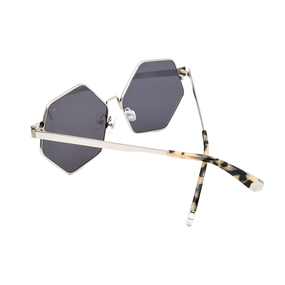 HEX Eyewear|和平主義者 - Ono│墨鏡│太陽眼鏡│義大利製 - 灰水銀