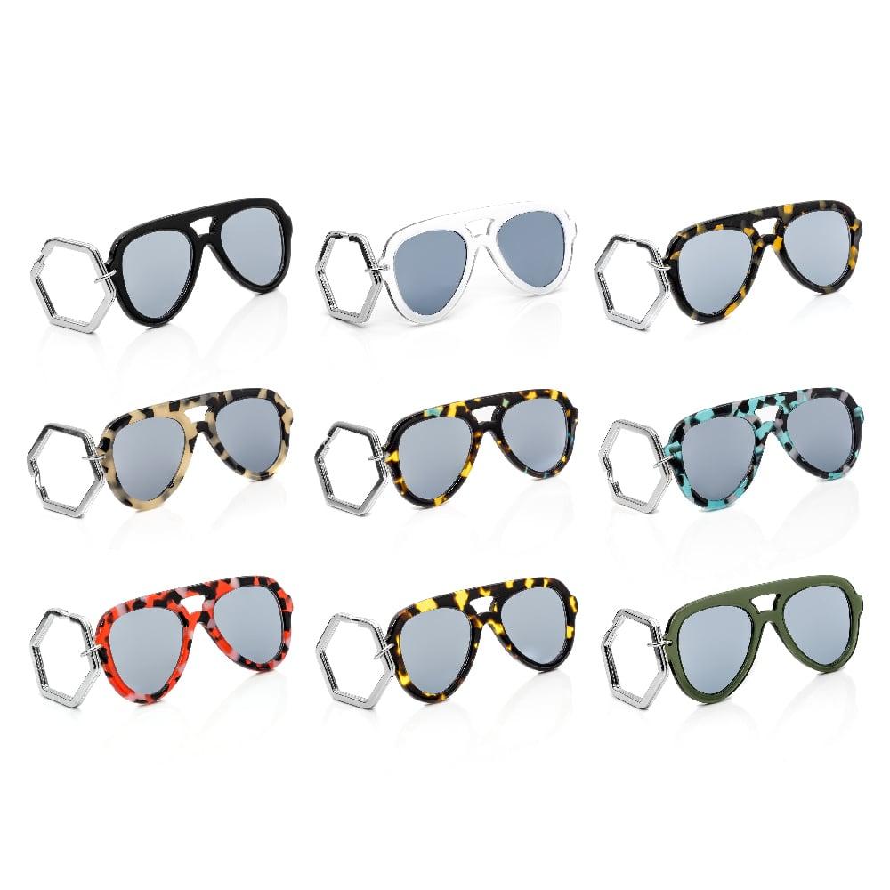 HEX Eyewear 墨鏡鑰匙圈 太陽眼鏡鑰匙圈 HEXETATE 板料配件 - 黑色