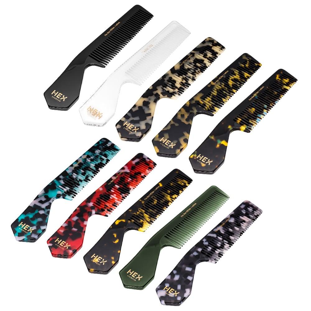 HEX Eyewear|梳子|HEXETATE 眼鏡墨鏡板料配件 - 藍綠啡花