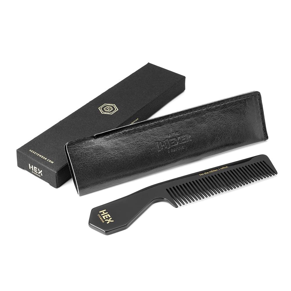 HEX Eyewear|梳子|HEXETATE 眼鏡墨鏡板料配件 - 紅黑啡花