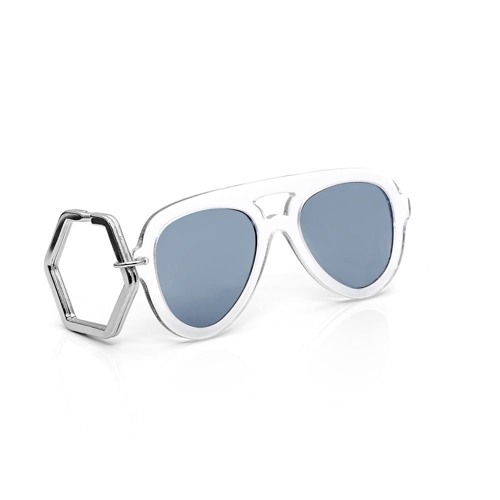 HEX Eyewear|墨鏡鑰匙圈|太陽眼鏡鑰匙圈|HEXETATE 板料配件 - 透明