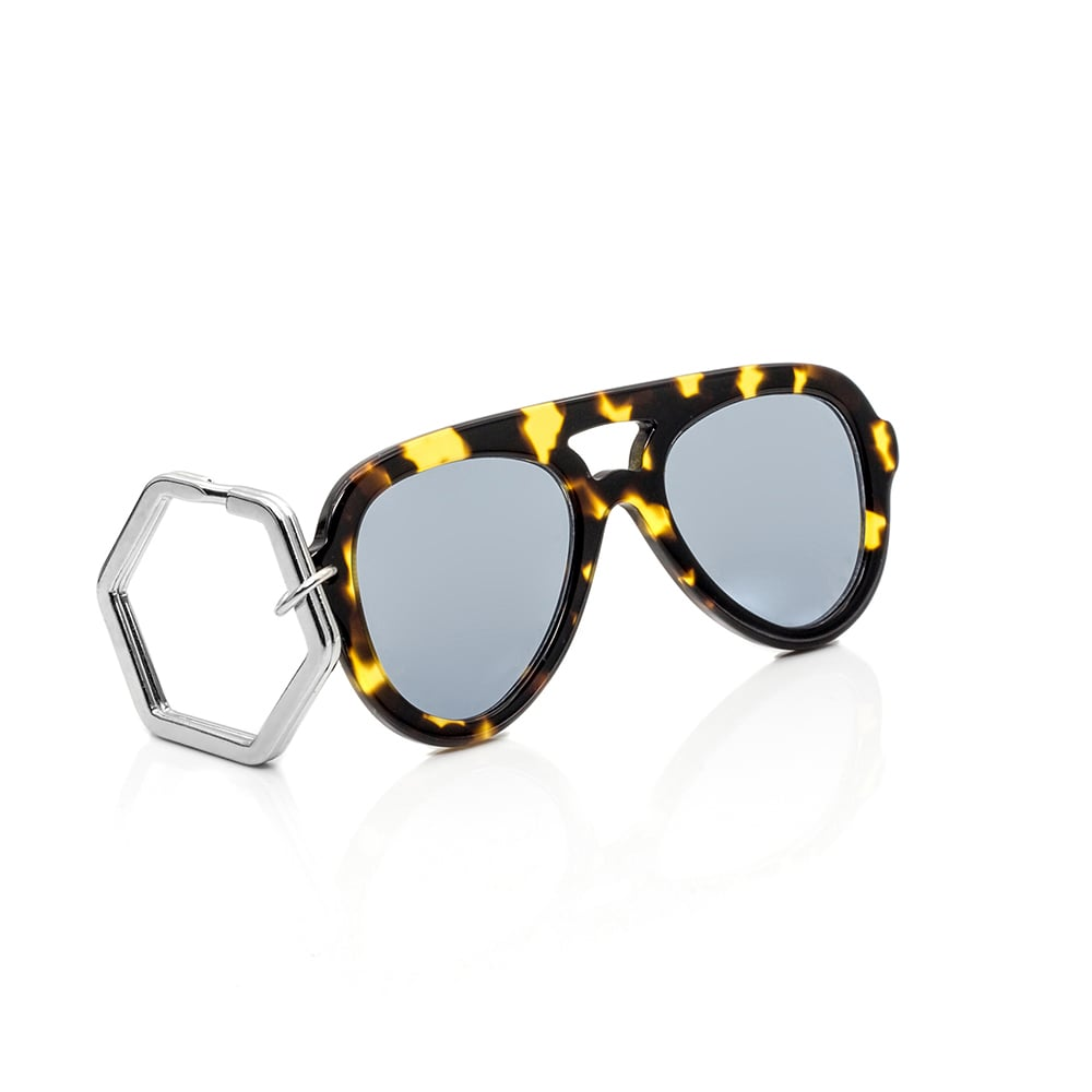 HEX Eyewear|墨鏡鑰匙圈|太陽眼鏡鑰匙圈|HEXETATE 板料配件 - 玳瑁色
