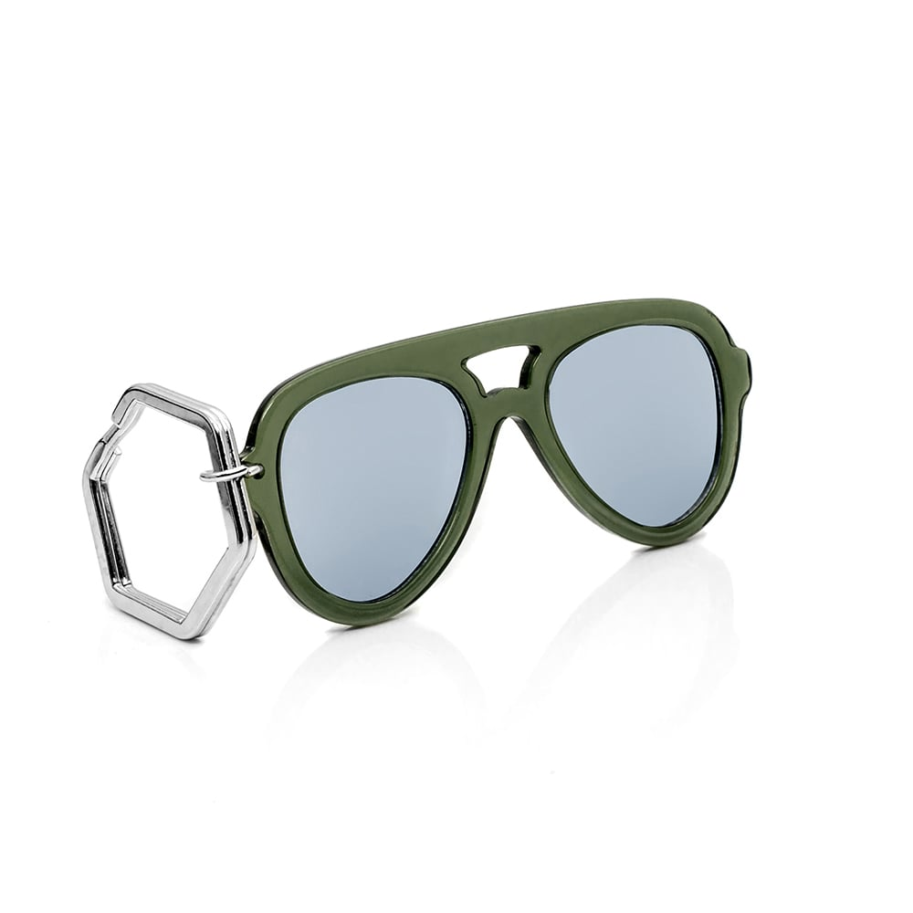 HEX Eyewear|墨鏡鑰匙圈|太陽眼鏡鑰匙圈|HEXETATE 板料配件 - 透綠色