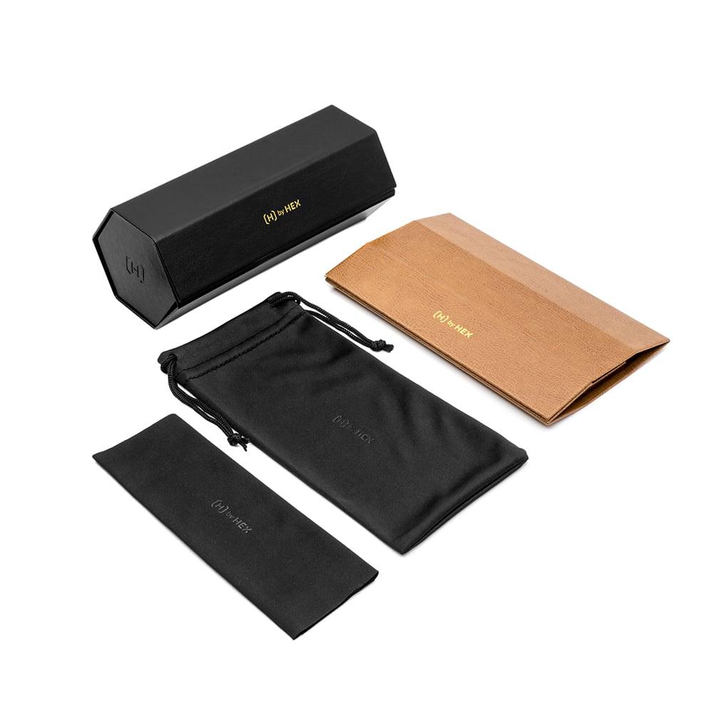 HEX Eyewear|六角折疊眼鏡盒│墨鏡包裝盒│太陽眼鏡│義大利設計 - 咖啡色