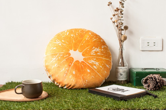 HIPEPPER|繽紛夏日水果系列抱枕-柑橘