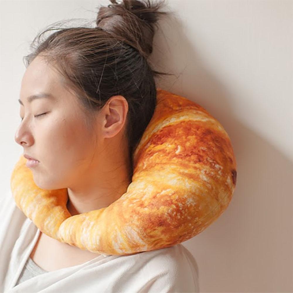 HIPEPPER 吃貨人生系列頸枕-牛角麵包