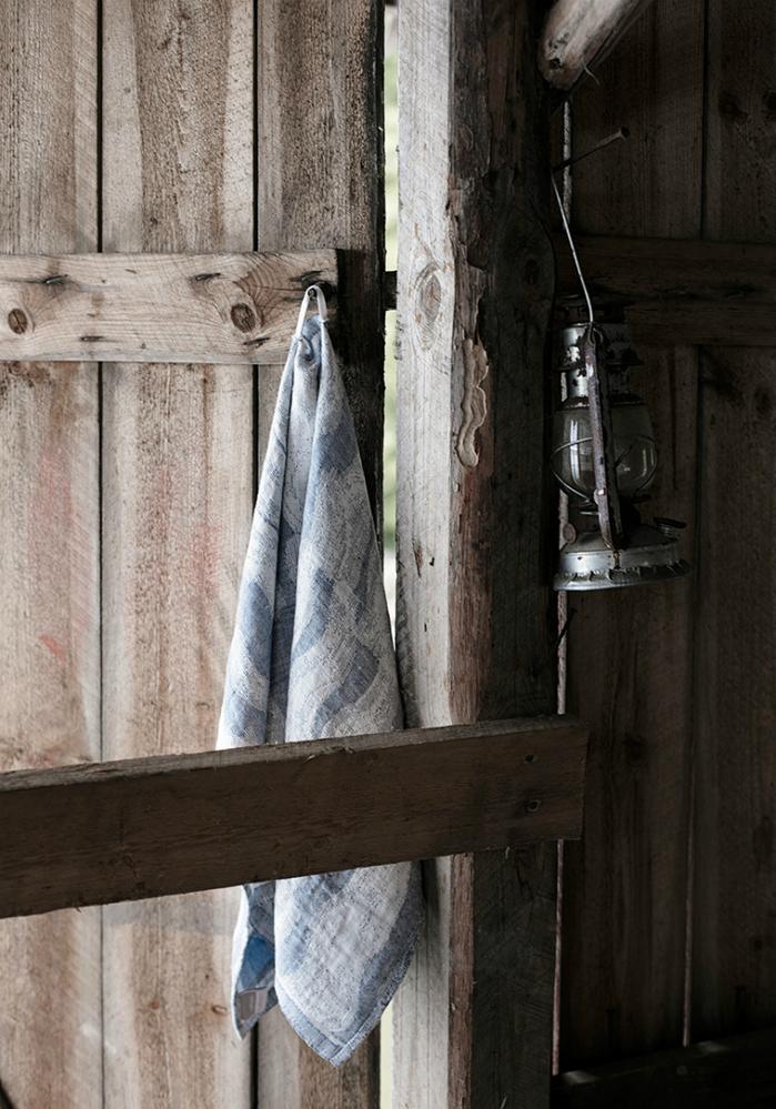 Lapuan Kankurit|灰色波浪棉麻萬用擦巾
