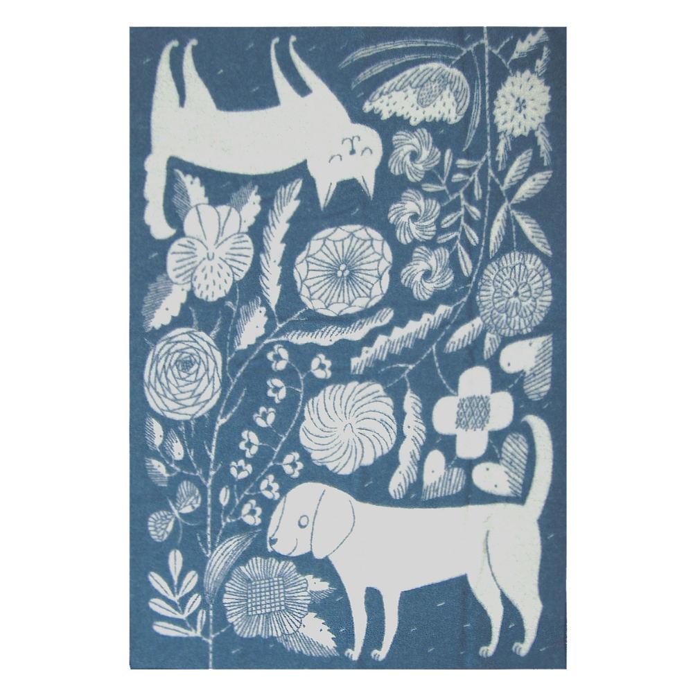 Lapuan Kankurit|鹿兒島睦貓狗羊毛毯 (藍白)