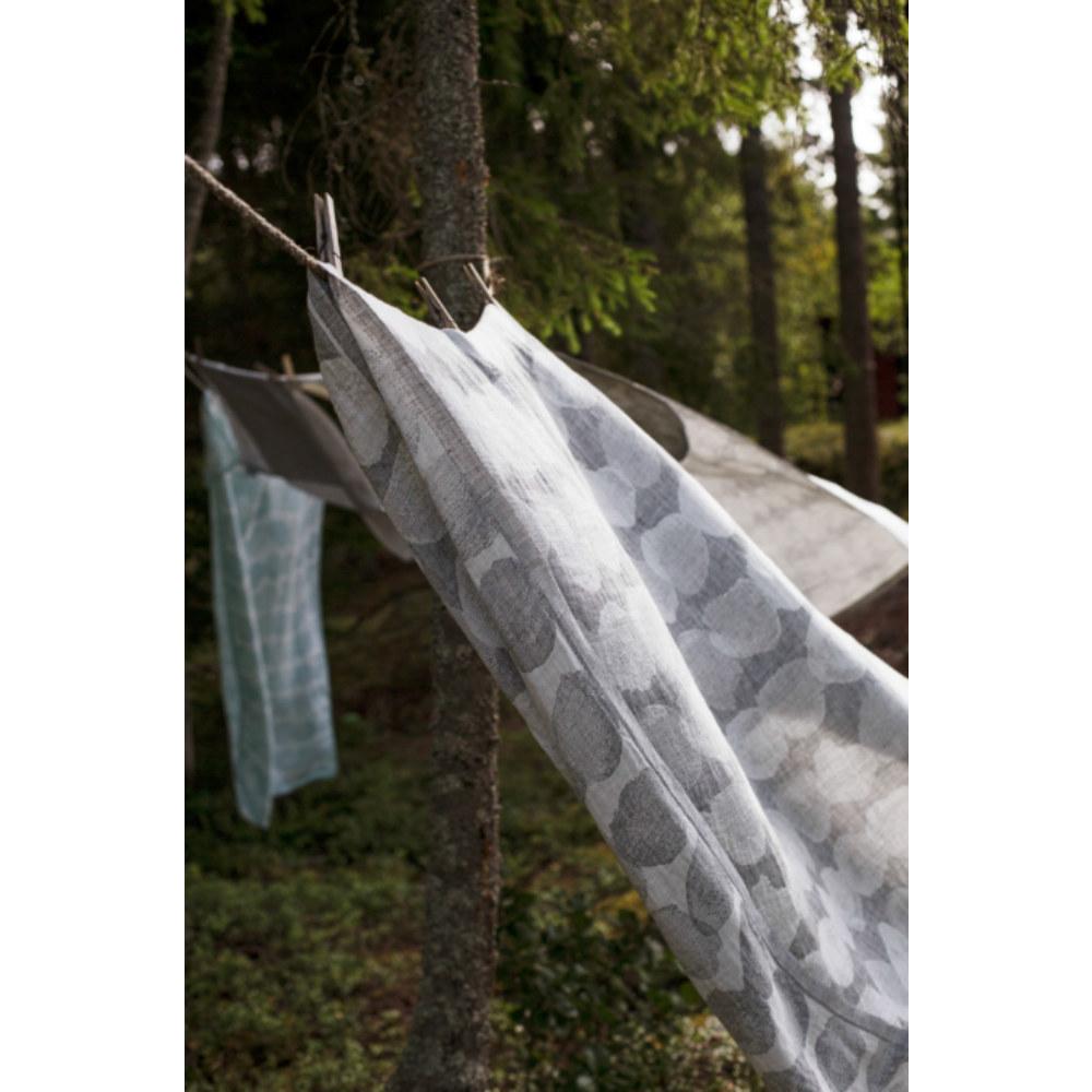 Lapuan Kankurit|SADE棉麻薄毯/浴巾 (灰色水玉大點)