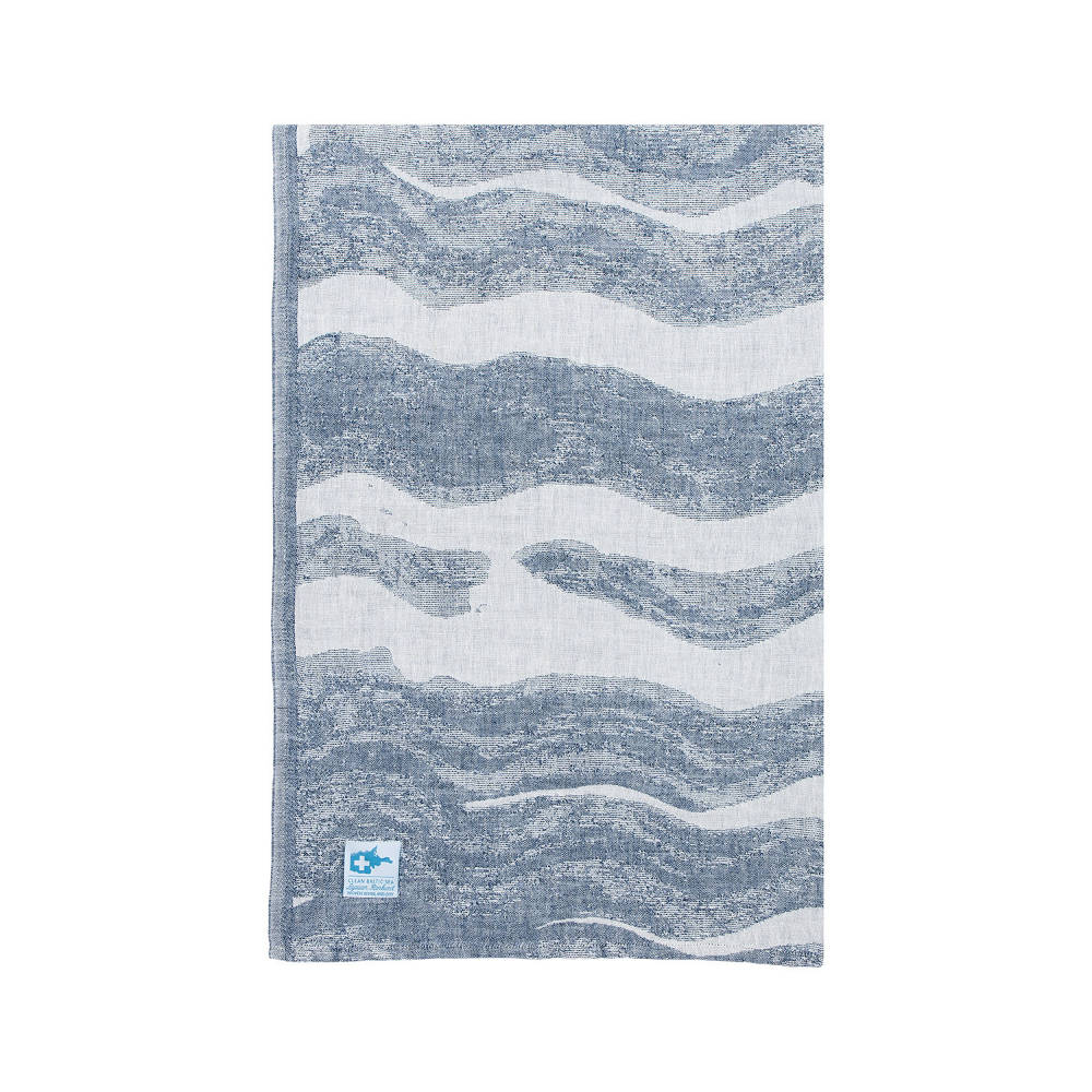 Lapuan Kankurit|灰色波浪棉麻薄毯/浴巾