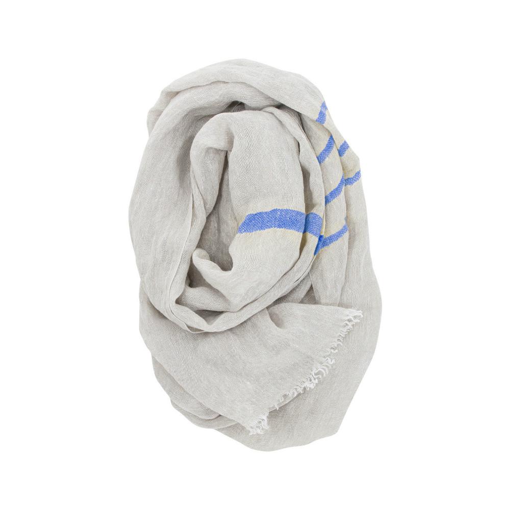 Lapuan Kankurit|TSVA亞麻薄圍巾 (藍條紋)