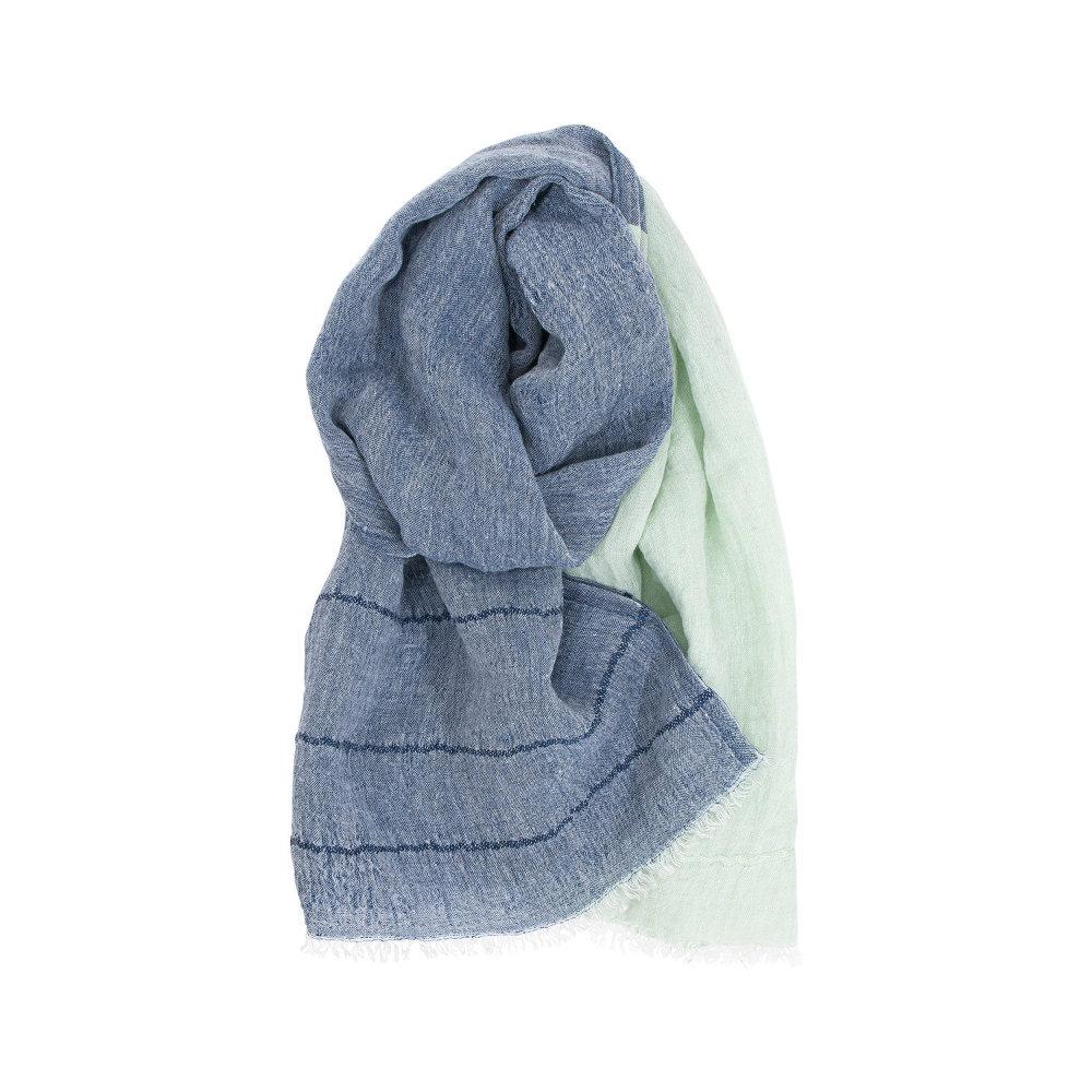 Lapuan Kankurit|TSAVO亞麻薄圍巾 (淺藍+薄荷)