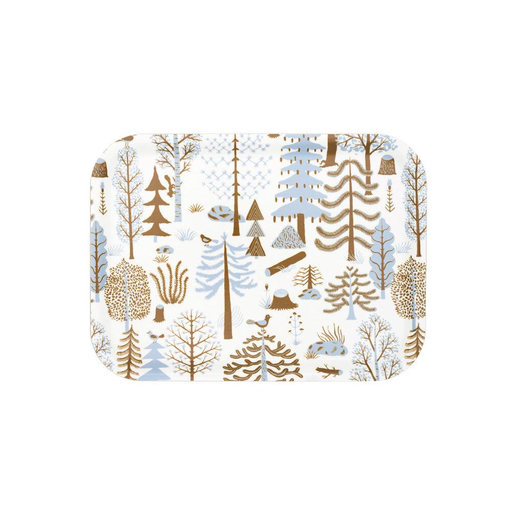 Kauniste|白樺木托盤 (藍色森林)