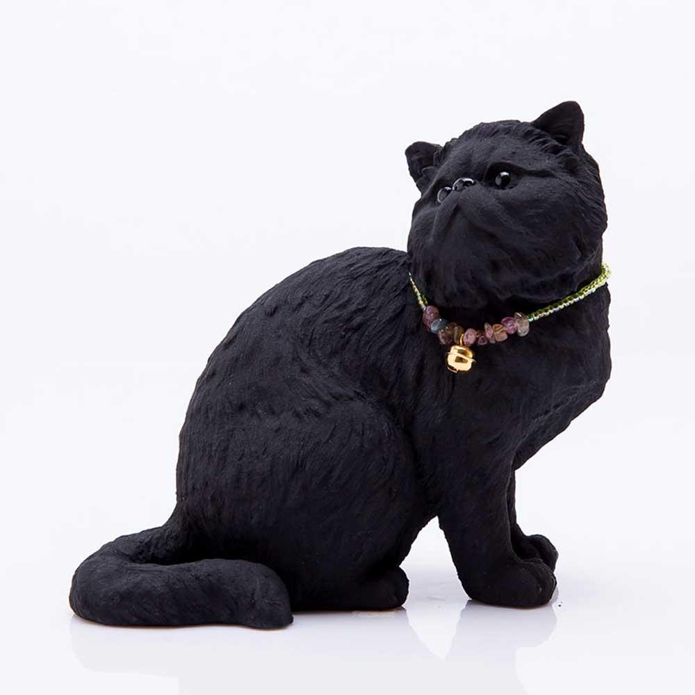 土山炭製作所│紀州備長炭寵物裝飾 - 回眸喜馬拉雅貓(S)