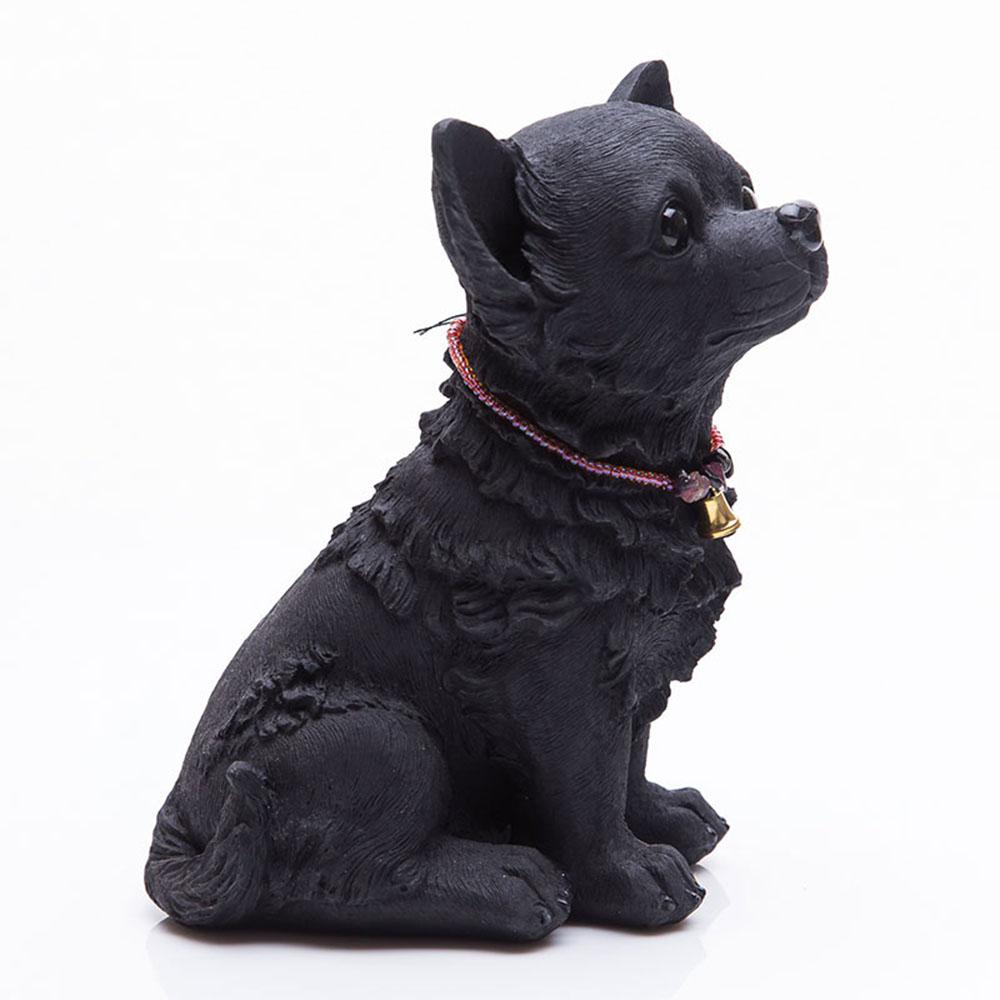 土山炭製作所│紀州備長炭寵物裝飾 - 坐著長毛吉娃娃(L)
