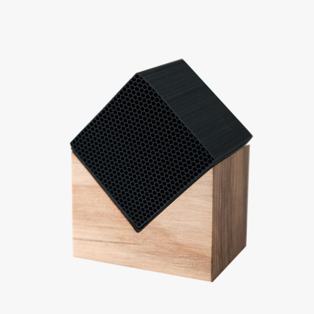 土山炭製作所│京都竹炭空氣淨化房屋造型迷你方塊(自然色)