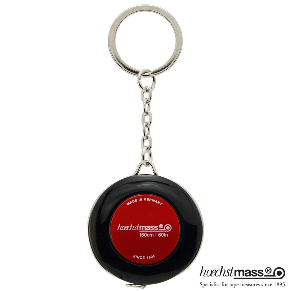德國 Hoechstmass|鑰匙圈捲尺 1.5m -(外黑內紅)