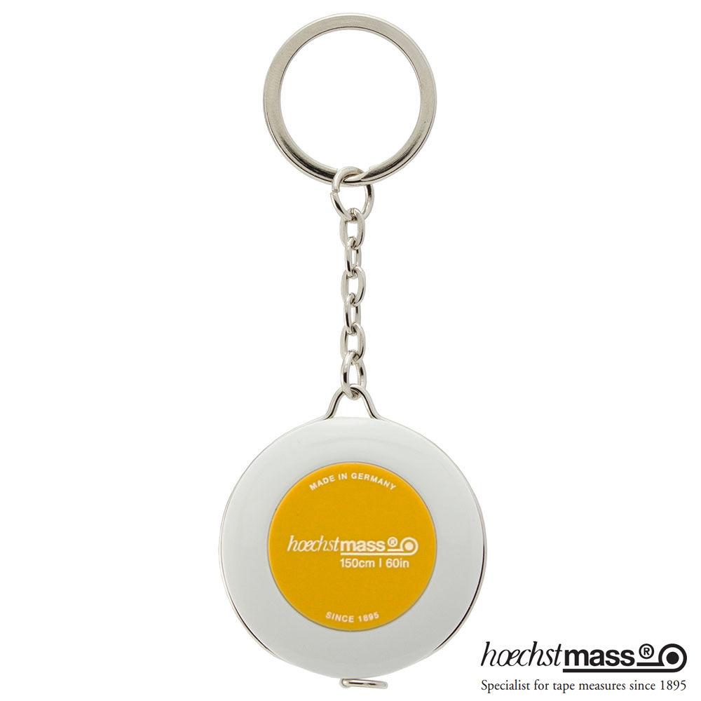 德國 Hoechstmass|鑰匙圈捲尺 1.5m -(外白內黃)