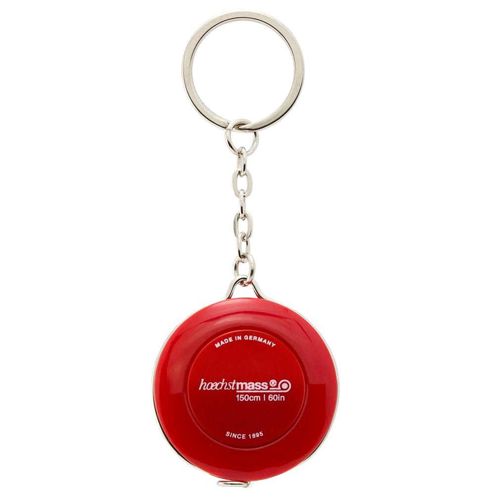 德國 Hoechstmass|鑰匙圈捲尺 1.5m -紅