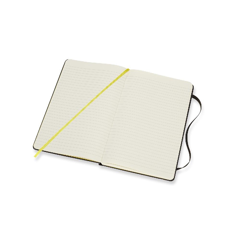 MOLESKINE 滾石樂團限定筆記本-L型橫線黑色