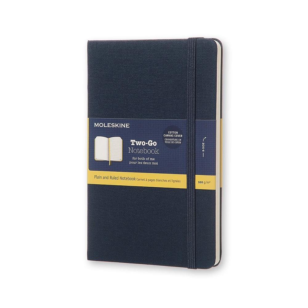 MOLESKINE TWO-GO 筆記本-M型空白橫線